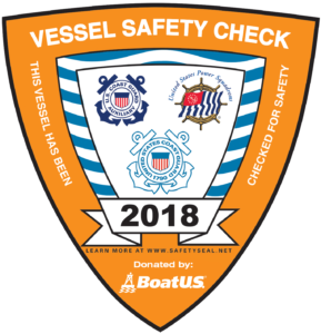 2018 Vessel Safety Check Decal