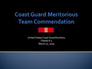 USCG SSENE Meritorious Team Commendation