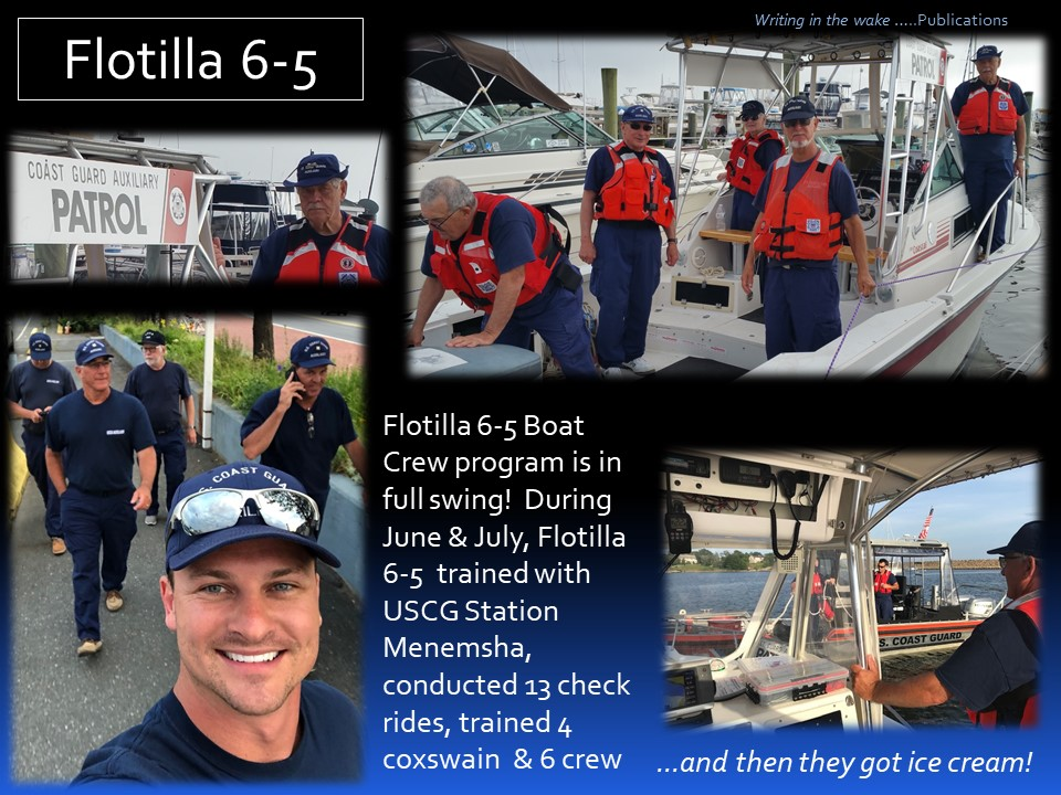 Boat Crew Training June July 2019